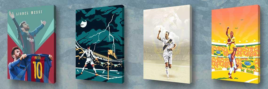 Fudbal - Slike na platnu