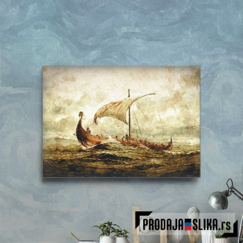 Ancient Rough Viking Ship