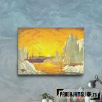 Sailing Ship In Arctic Sea