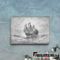 Sailing Ship In Open Sea