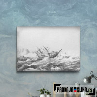 Sailing Ship In The Arctic