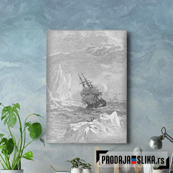 Ship Sailing The Arctic