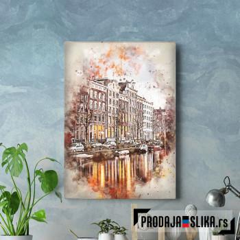 Amsterdam in Watercolor