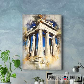 Atina vodene boje