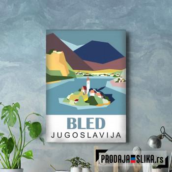 Bled lake Yugoslavia