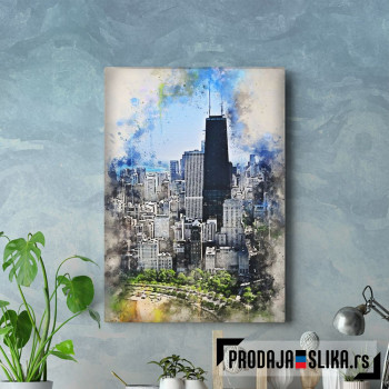 Chicago in Watercolor