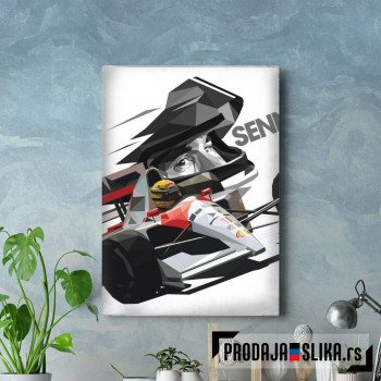 Ayrton Senna Low Poly 2