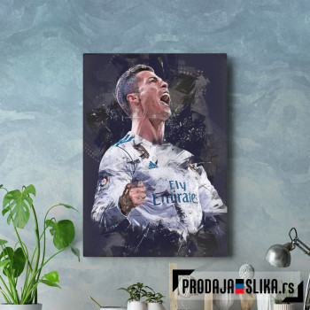 Cristiano Ronaldo celebrate abstract