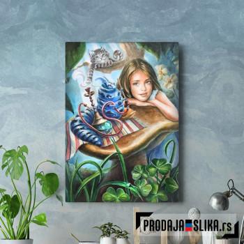 Alice and blue caterpillar