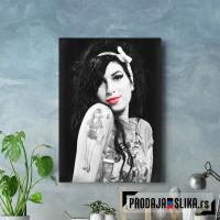 Amy Winehouse Lips Red Art