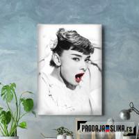 Audrey Hepburn Lips Red