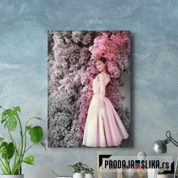 Audrey Hepburn with flower