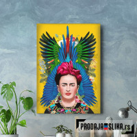 Frida Kahlo feathers
