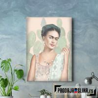 Frida Kahlo in green
