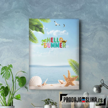 Hello Summer Sandy Beach