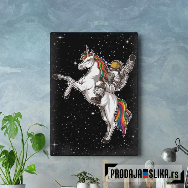 Astronaut Rides A Unicorn