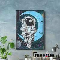 Astronaut Sits On Asteroid