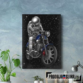 Astronaut on Motorcycle