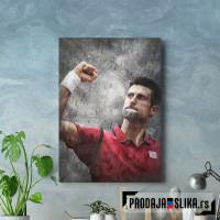 Novak Djokovic slika na platnu